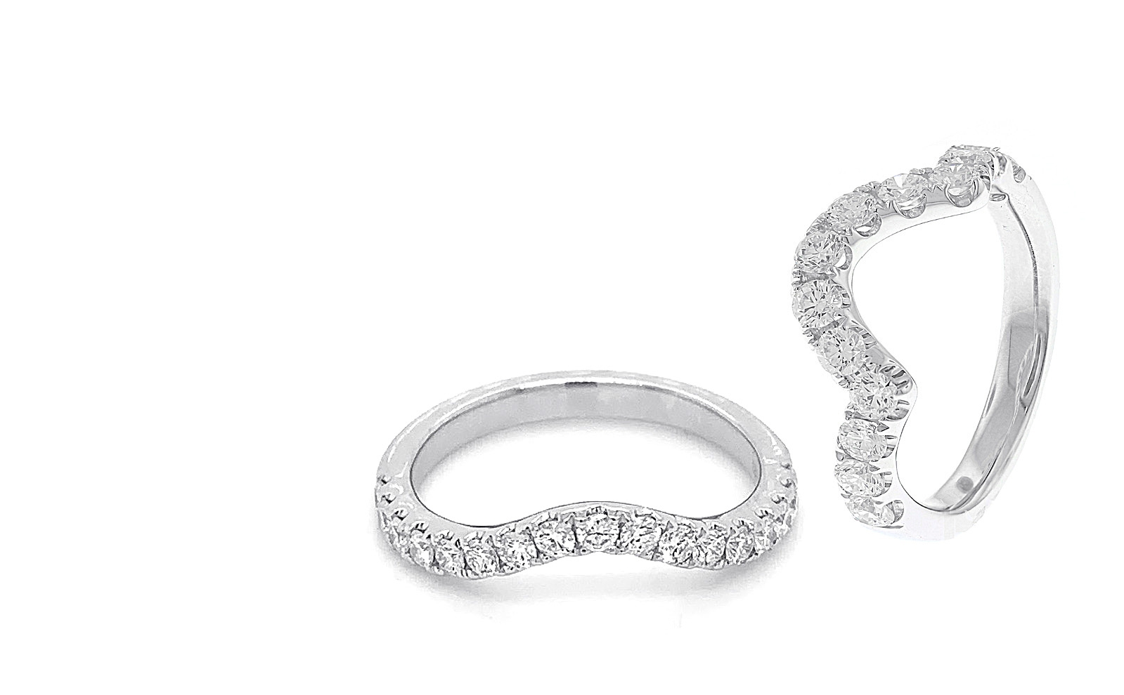 Curved Diamond Bands