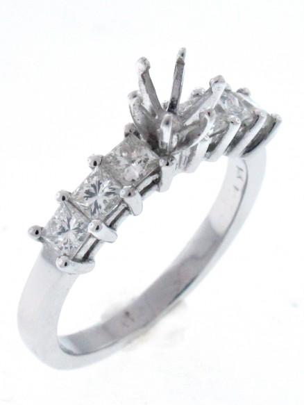 14kt White Gold Diamond Semi Mount