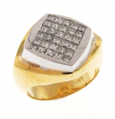 18kt White and Yellow Gold diamond Ring