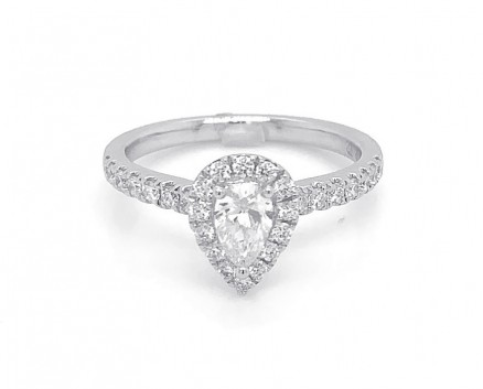 18kt White Gold Diamond Engagement Ring