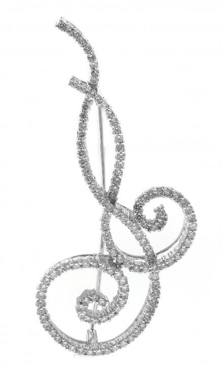 14kt White Gold Diamond Pendant/Pin