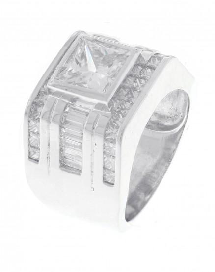 Platinum Diamond Men Ring