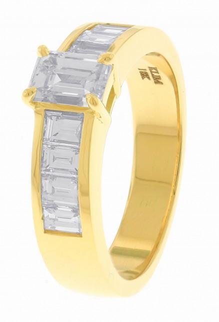 18kt Yellow Gold Diamond Men's Band