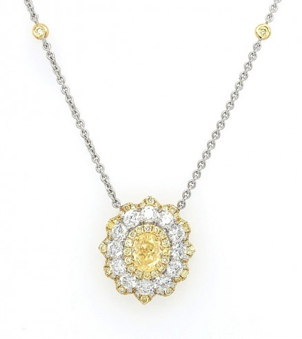 18kt White And Yellow Gold Diamond Necklace