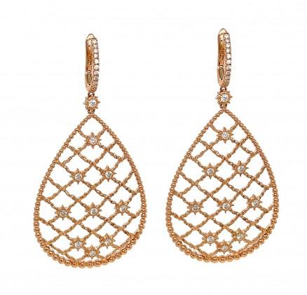 18kt Rose Gold Diamond Earring