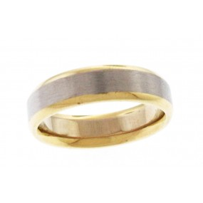 14kt White And Yellow Gold Men's Wedding Band