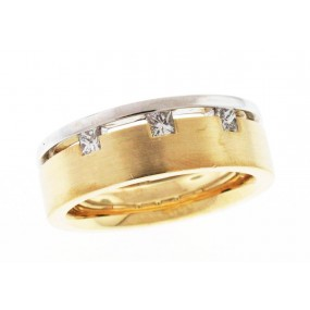 18kt White And Yellow Gold Diamond Band