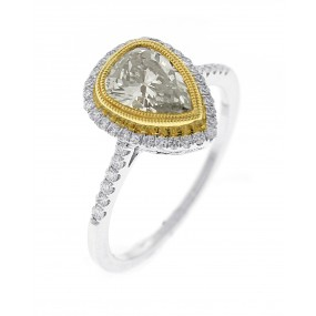18kt Two Tone Diamond Ring
