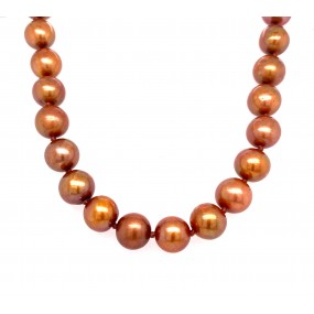 14kt Black Gold And Pearl Necklace