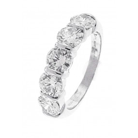 Platinum 5 Diamond Band