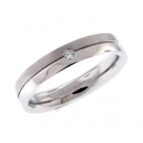 18kt White Gold Diamond Men`s Band