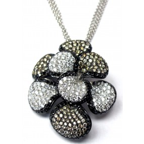 18kt White And Black Gold Diamond Necklace