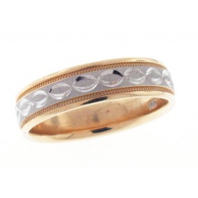 14kt White And Yellow Gold Wedding Band