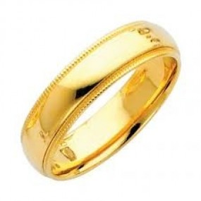 14kt Yellow Gold Men's Wedding Band