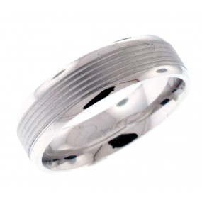 14kt White Gold Men`s Wedding Band