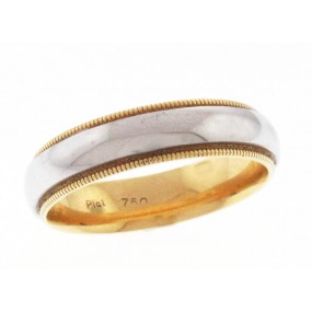 Platinum And 18kt Yellow Gold Men's Wedding Band