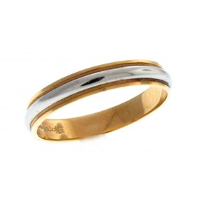 Platinum And 18kt Yellow Gold Men's Wedding Band