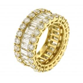18kt Yellow Gold Diamond Eternity Band