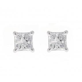 18kt White Gold Diamond Studs