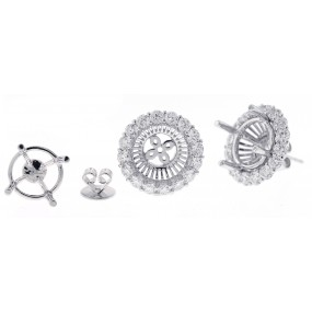 18kt White Gold Diamond Jackets