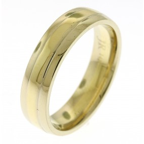 14kt Two Tone Men's Wedding Band