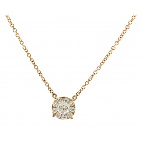 18kt Rose Gold Diamond Necklace