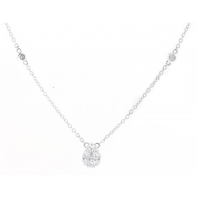 18kt White Gold Diamond Necklace