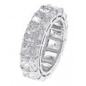 Platinum GIA Certified Radiant Cut Diamond Eternity Band