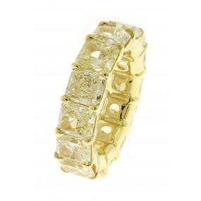 18kt Yellow Gold Fancy Light Yellow Diamond Eternity Band