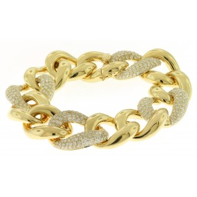 18kt Yellow Gold Diamond Link Bracelet