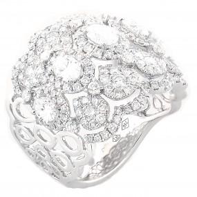 18kt White Gold Diamond Fashion Ring