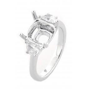 18kt White Gold Diamond Semi Mount