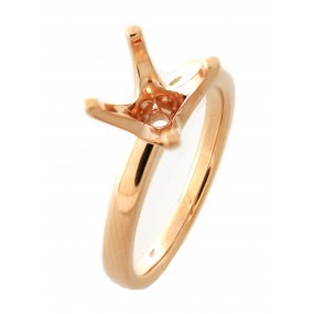 18kt Rose Gold Semi Mount