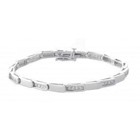 14kt White Gold Diamond Link Bracelet
