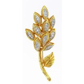 18kt Yellow Gold Diamond Pin/Pendant