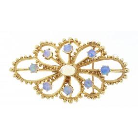 14kt Yellow Gold Opal Pin/Pendant