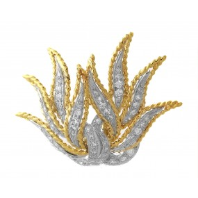 18kt White And Yellow Gold Diamond Pin/Pendant