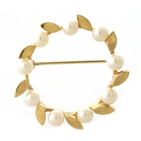 14kt Yellow Gold Pearl Pendant/Pin