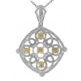 18kt White And Yellow Gold Diamond Pendant