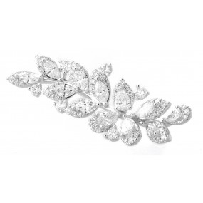 18kt White Gold Diamond Pendant/Pin