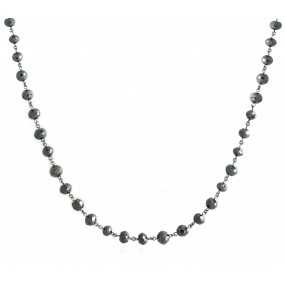 18kt White Gold Black Diamond Necklace