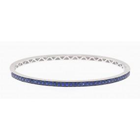 18kt White Gold Sapphire Bangle