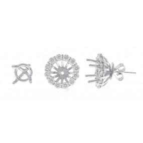 18kt White Gold Diamond Earrings Jacket