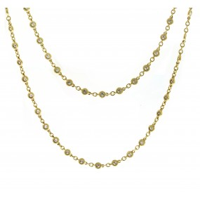18kt Yellow Gold Diamond By The Yard Necklace