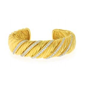 18kt Yellow Gold Diamond Bangle