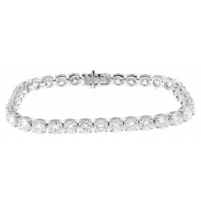 14kt White Gold Diamond Tennis Bracelet