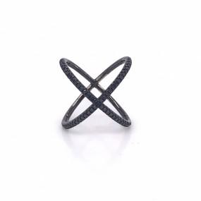 18kt Black Gold And Black Diamond Ring