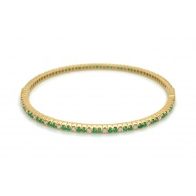 18kt Yellow Gold Diamond Bangle
