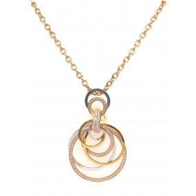 18kt Tri Color Gold Diamond Necklace