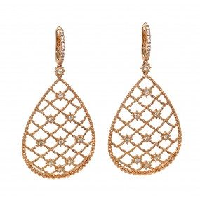 18kt Rose Gold Diamond Earring